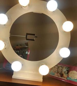 Ring Light de 8 bocais na cor branco! 100% MDF