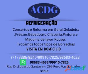 Acdg refrigeração conserto em geral Freezer