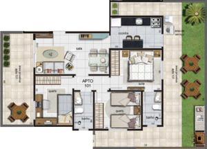 Apartamento, Santa Mônica, 3 Quartos, 1 Vaga, 1 Suíte