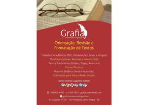 Revisão e formatação de textos acadêmicos