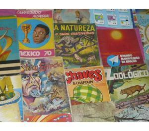 340 ÁLBUNS DE FIGURINHAS R$3400. COMPRO, VENDO E COLECIONO