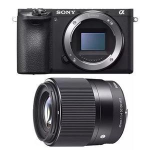 Câmera Sony Mirrorless A6500 4k + Sigma 30mm F/1.4 + Nota