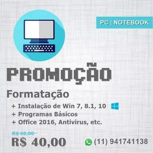 Formatação E Manutenção De Pc E Notebooks São Paulo