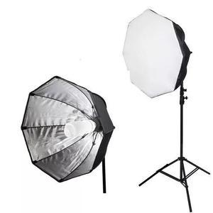 Kit Estúdio Tripe Iluminação Softbox 70cm Com Lampada