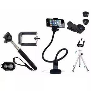 Kit Youtuber Celular Gravação Mini Tripé Selfie Bluetooth