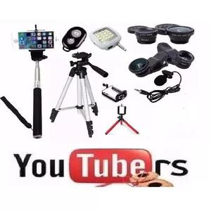 Kit Youtuber Mini Tripé Flexível Lapela Tripé 1,20m