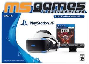 Playstation VR PS4 Bundle Doom Modelo Novo ZVR2 Lacrado