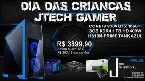 Promoção Pc Gamer I3 8100 Gtx 1050Ti 8gb Ram 1 TB HD