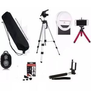 Tripe 1,20 Anel Led Ring Light + Kit Youtuber Para Celular