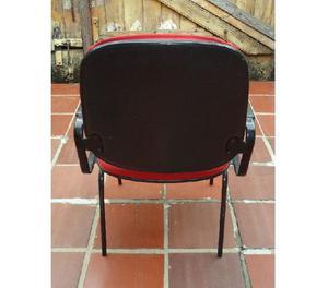 Cadeira Para Escritório Cor Vermelha Com Apoio De Braços