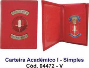 Carteira de couro para Acadêmico Direito - simples