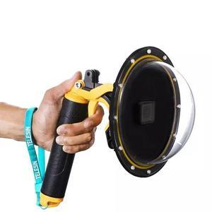 Dome Gopro Hero 5, 6 E 7 Black Telesin 6 Pol. Com Gatilho