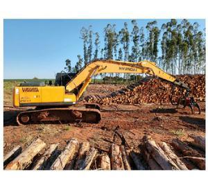 Escavadeira Hyundai 210 LC-7 ano 2011 4500Hs com garra Roder