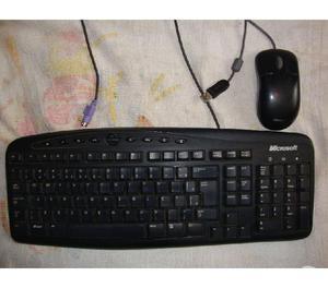 Kit Teclado Multimídia e Mouse Microsoft Rt2300 Ps2 Usb, s
