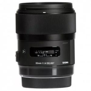 Lente Sigma Dg 35mm F/1.4 Hsm Art Para Nikon Preto