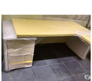 Mesa escritório L Presidente Conjunto amarelo Ferrari