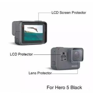 3x Kitspelícula Proteção Lente E Tela Lcd Gopro Hero 5