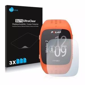 3x Películas Protetoras Savvies® Para Relógio Polar M430