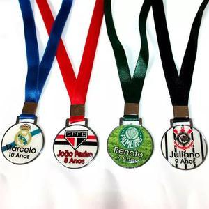 Medalha Personalizada De Metal Resinada P - Kit Com 100