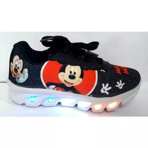 Tênis Mickey 6 Leds Com Luzes De Led Bebe E Infantil
