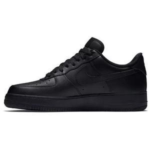 Tênis Nike Air Force 1 Couro Preto Original