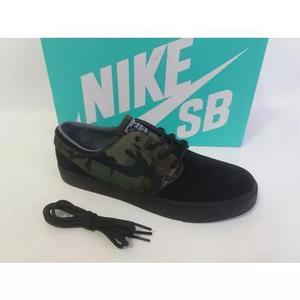 Tênis Nike Sb Stefan Janoski Preto Camuflado Camo Original
