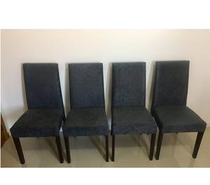 Conjunto 4 Cadeiras Estofadas