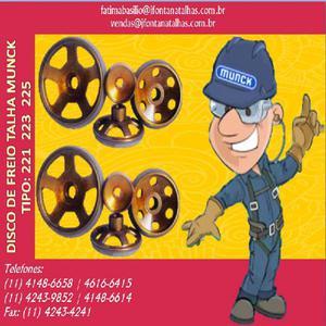 Disco de Freio para Talhas Munck 1141486658 J Fontana Talhas