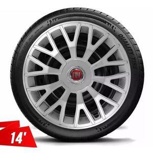 Calota Aro 14 Fiat Palio Siena Fire Uno Vivace Strada Silver