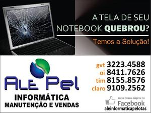 Conserto de telas e teclados de notebook