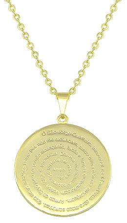 Gargantilha folheada a ouro medalha de São Jorge