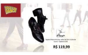 Sapatos masculinos para dançar Capézio sola couro ou
