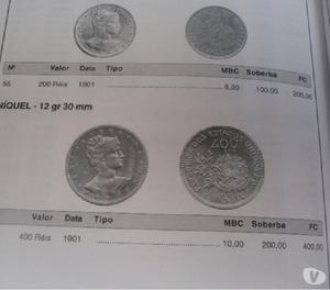 VENDO 10 QUILOS DE MOEDAS ANTIGAS DE RÉIS 1901 R$800 TUDO