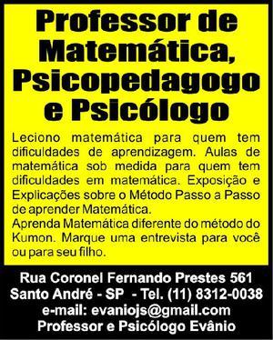 Aula de matemática- reforço escolar