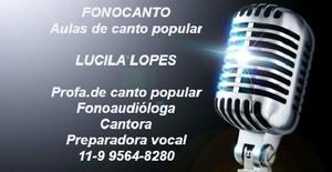 Aulas de canto popular – 2 em 1 – fonocanto