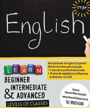 Aulas de inglês com Professor Nativo