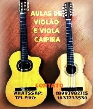 Aulas de violão e viola caipira em álvares machado