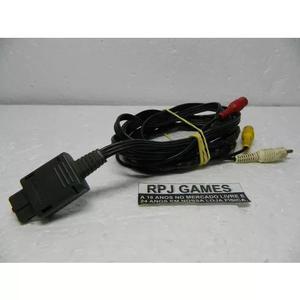 Cabo Av Original Nintendo P/ Snes N64 Game Cube - Veja Fotos