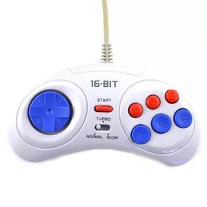 Controle De Mega Drive De 6 Botões Com Função Turbo E