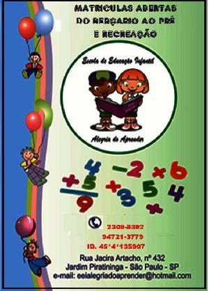 Escola de educação infantil alegria do aprender