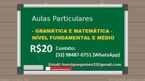 Professor particular de português e matemática
