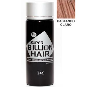 Super Billion Hair Fibra para Calvície Castanho Claro 8g