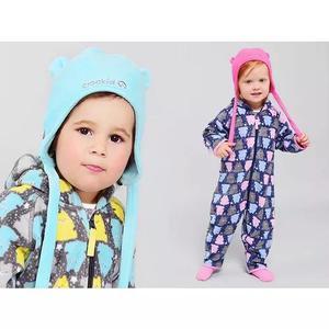 2 Macacão Pijama Infantil Criança Bebe Soft Menino Menina