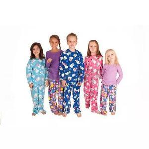 2 Macacão Pijama Infantil Criança Menina Menina Inverno
