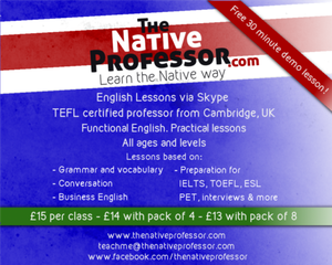 Aulas de Ingles com profesor nativo de Cambridge