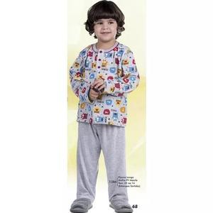 Kit 4 Pijamas Infantil Criança Menino Malha Pv 1386 - 1442