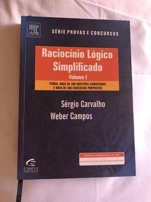 Livros de Raciocino lógico vol 1 e 2