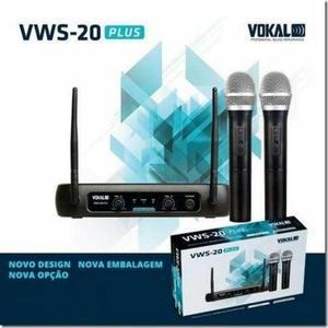 Microfone sem fio duplo Mão alcance 50 mts vws20 plus Vokal