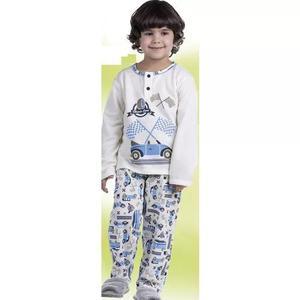 Pijama Infantil Criança Longo Menino Inverno Moletinho 1446