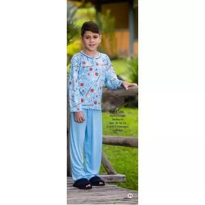 Pijama Infantil Criança Menino Inverno Malha Pv 1386